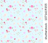 seamless pattern. crystals ...   Shutterstock .eps vector #1071619355