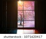 Room Interior With Window Fram...