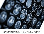 medical background with mri...   Shutterstock . vector #1071627344
