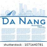 outline da nang vietnam city... | Shutterstock .eps vector #1071640781