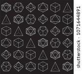 geometric dice pattern ... | Shutterstock .eps vector #1071644891