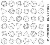 geometric dice pattern  rotated    Shutterstock .eps vector #1071644897