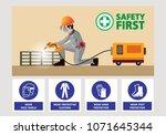 steel welding vector  welding... | Shutterstock .eps vector #1071645344