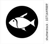 fish icon design vector art... | Shutterstock .eps vector #1071649889
