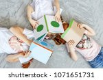three children of students with ... | Shutterstock . vector #1071651731
