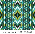 tribal seamless colorful... | Shutterstock .eps vector #1071652661