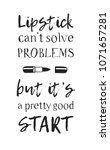 hand drawn illustration beauty... | Shutterstock .eps vector #1071657281