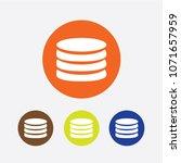 flat icon of money vector icon | Shutterstock .eps vector #1071657959