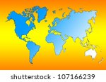 world map | Shutterstock . vector #107166239