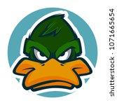 angry duck head mascot   Shutterstock .eps vector #1071665654