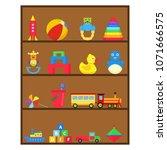 children's toys  a set of... | Shutterstock .eps vector #1071666575