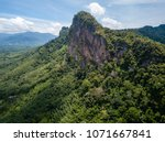 a huge limestone cliff in the... | Shutterstock . vector #1071667841