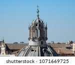 Rome   Detail Of The Dome Of...