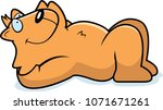 a cartoon illustration of a cat ... | Shutterstock .eps vector #1071671261
