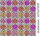 polka dots seamless pattern... | Shutterstock . vector #1071673955