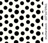 polka dots seamless pattern... | Shutterstock . vector #1071673961