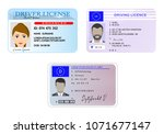 car driver license with photo... | Shutterstock .eps vector #1071677147