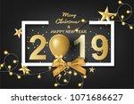 paper art of merry christmas... | Shutterstock .eps vector #1071686627