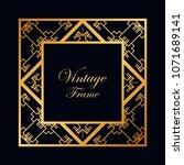 vintage ornamental decorative... | Shutterstock .eps vector #1071689141