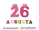 august 26th. image of august 26 ... | Shutterstock . vector #1071694235