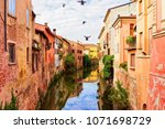Small photo of Canals at the old city of Mantua, Lombardy, Italy