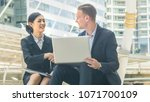 business people lady and... | Shutterstock . vector #1071700109