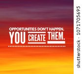 successful and inspirational... | Shutterstock . vector #1071705695