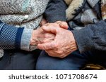 grandfather and grandmother... | Shutterstock . vector #1071708674