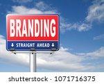 branding your name or brand...   Shutterstock . vector #1071716375