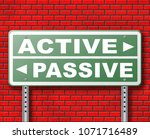 active passive take action or...   Shutterstock . vector #1071716489
