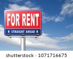 for rent sign  renting a house...   Shutterstock . vector #1071716675