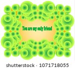 a spring frame consisting of... | Shutterstock .eps vector #1071718055