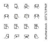line icon set of smartphone... | Shutterstock .eps vector #1071719969