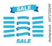 flat vector ribbons banners... | Shutterstock .eps vector #1071720299