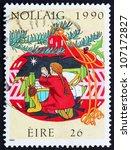 ireland   circa 1990  a stamp... | Shutterstock . vector #107172827