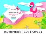 summer big sale banner with... | Shutterstock .eps vector #1071729131