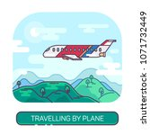 passenger airplane or airbus ... | Shutterstock .eps vector #1071732449