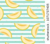 ripe yellow cut pieces of... | Shutterstock .eps vector #1071737405