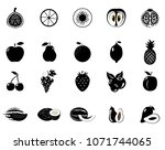 set of fruits and vegetables....   Shutterstock .eps vector #1071744065