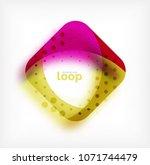 vector square loop business... | Shutterstock .eps vector #1071744479
