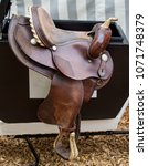 Small photo of Brown horse's Saddle