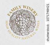 luxury vintage style wine theme ... | Shutterstock .eps vector #1071748421