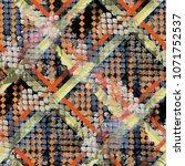 seamless pattern mixed design.... | Shutterstock . vector #1071752537