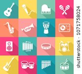 collection of musical... | Shutterstock .eps vector #1071758024