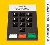 buttons electoral urn...   Shutterstock .eps vector #1071759845