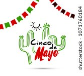 greeting card for cinco de mayo.... | Shutterstock .eps vector #1071760184
