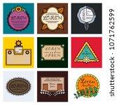set of vector typography... | Shutterstock .eps vector #1071762599