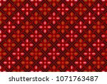 embroidered cross stitch... | Shutterstock .eps vector #1071763487