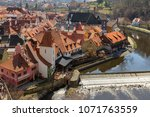 view of historic city center of ... | Shutterstock . vector #1071763559