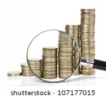 money chart - stock photo